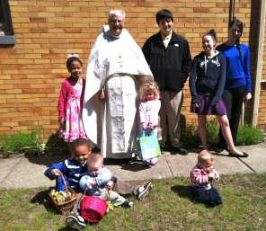 Annual egg hunt 2103, following Paschal Sunday Vespers