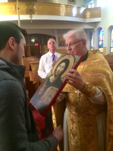 George receives the blessed icon