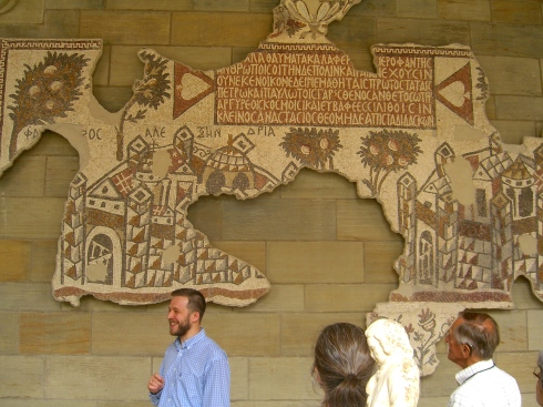Dn. Evan Freeman also describing floor tiles from a later Byzantine Church