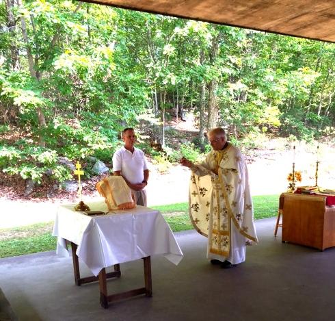 Open air Divine Liturgy