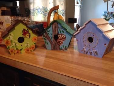 Jerry's birdhouses