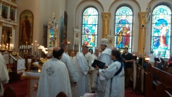 Archpastoral Visit by His Eminence Nikon & Ordination of Subdeacon Mark Curran: May 2017