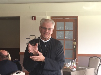 Fr. Steven at his retirement dinner in 2017