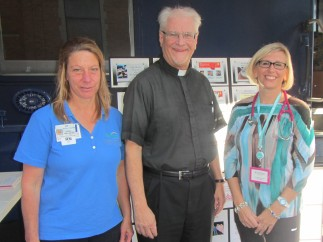 Father Stephen with nurses from Griffin Hospital
